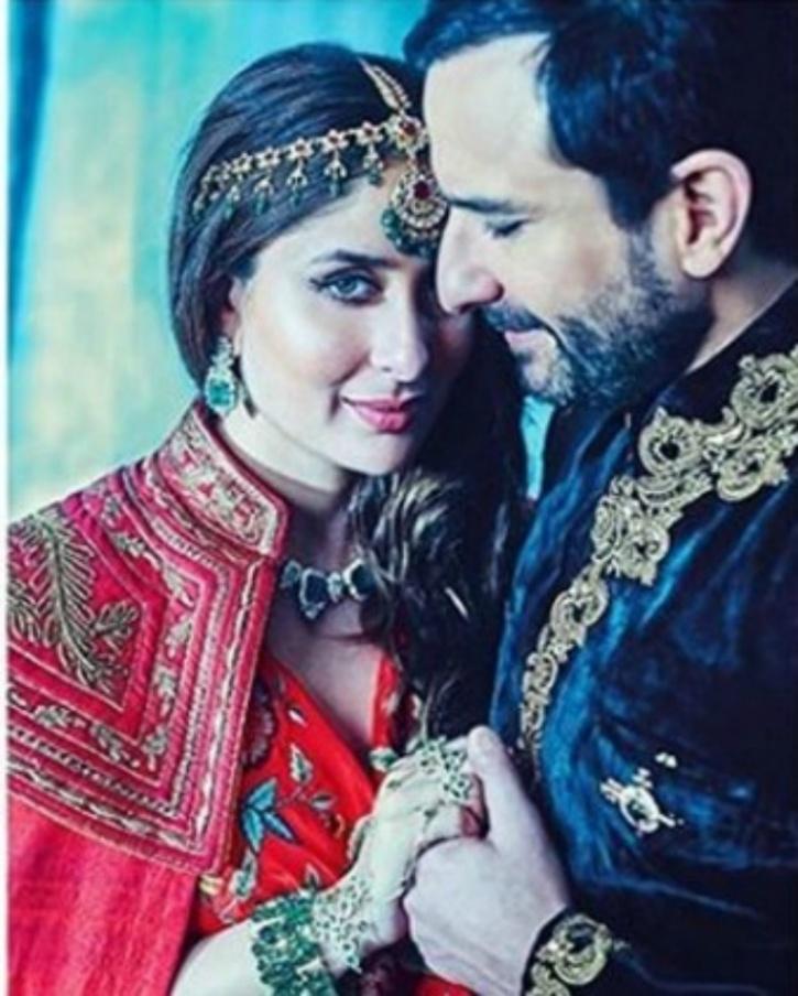 Image result for Before delivery Kareena Kapoor and Saif Ali Khan Harper's Bazaar photoshoot