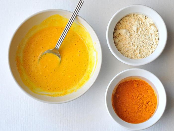 Turmeric and gram flour facepack