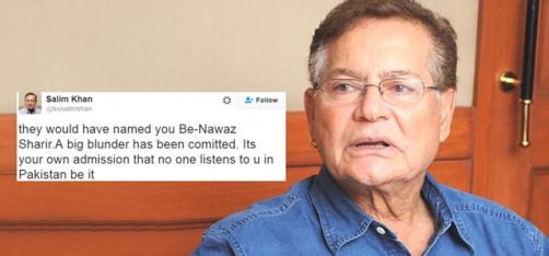 'They Should Have Named You Be-Nawaz', Salim Khan Slams Pak PM Nawaz Sharif Over Uri Attack