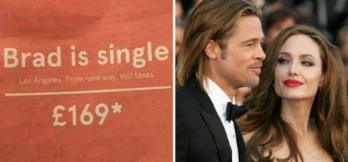 Norwegian Airlines Just Used The Brangelina Divorce To Advertise Its Cheap Flights To LA!