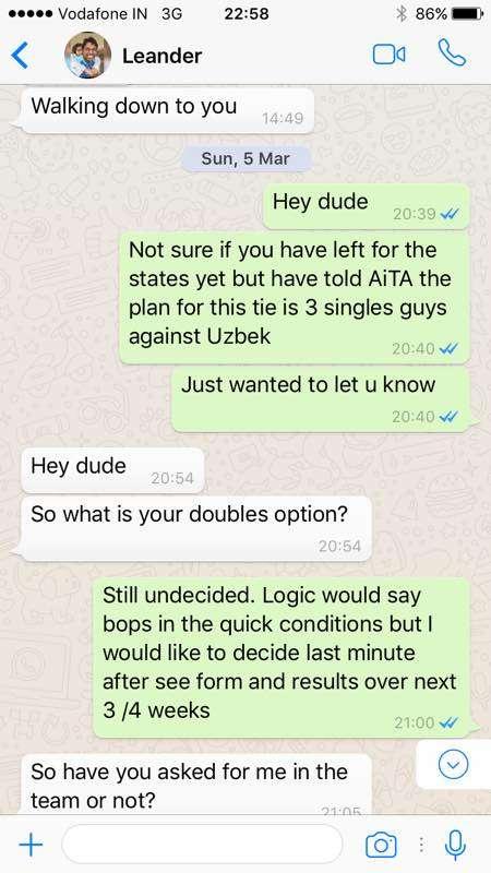Mahesh Bhupathi Reveals Whatsapp Conversation To Clear The