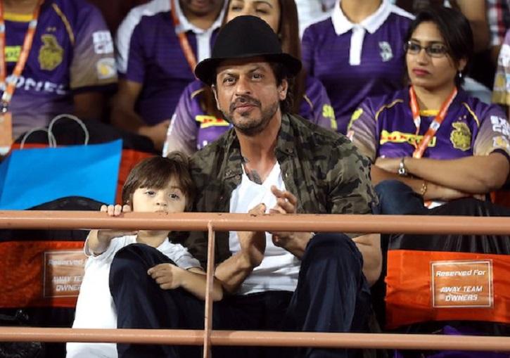 SRK and AbRam at IPL 2017