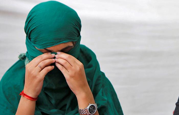 Women Hiding Face