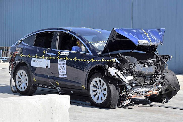Tesla Model X frontal crash test