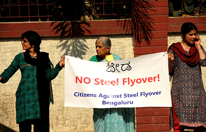 Protest Against Steel Flyover Project