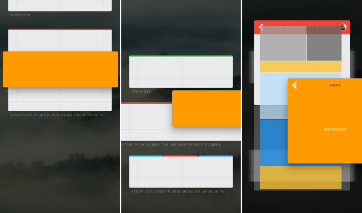Split screen mode
