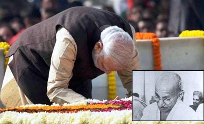 Narendra Modi Pays Tribute To Mahatma Gandhi, Shastri