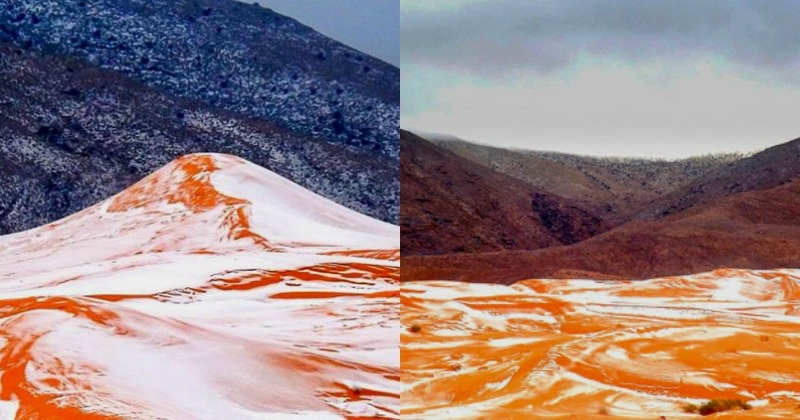 Global Warming Shows Its Effects Snow Falls In The Sahara