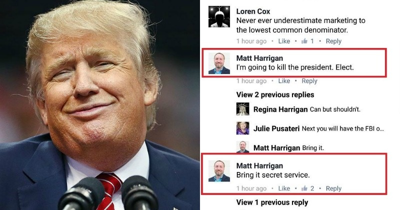 Ceo openly threatens to kill donald trump on facebook immediately