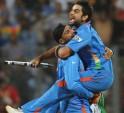 Virat Kohli celebrates