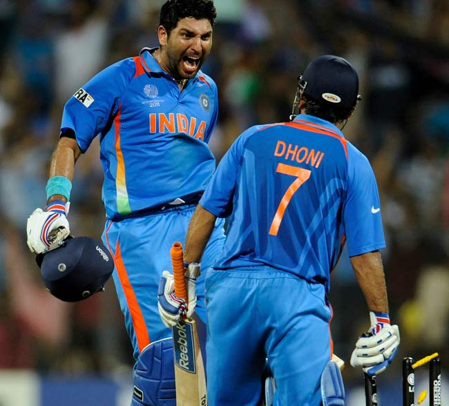 Yuvraj Singh on top
