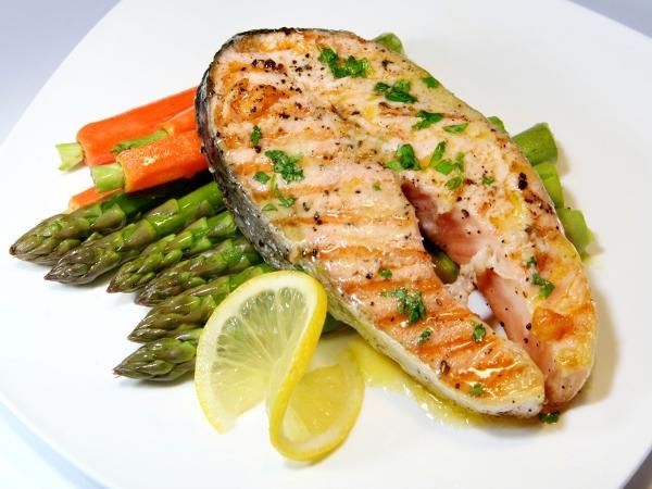 Grilled mackerel.