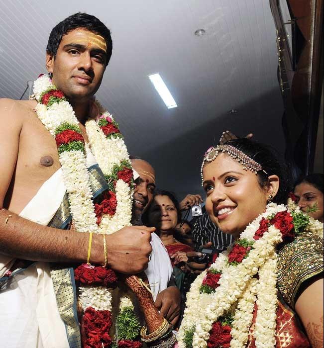 Ashwin ties the nuptial knot