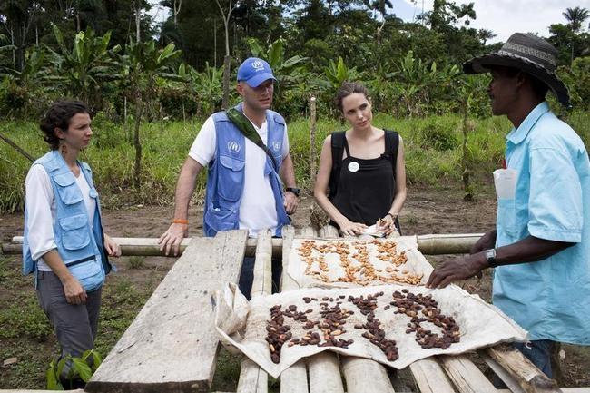 UNHCR Special Envoy Angelina Jolie Visits Ecuador