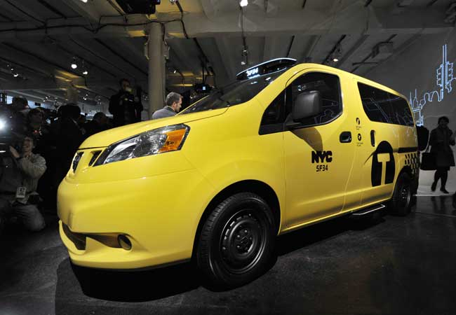 The NV200 will be the exclusive New York City taxi vehicle starting in 2013.