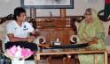 Sachin Tendulkar & Sheikh Hasina Wazed