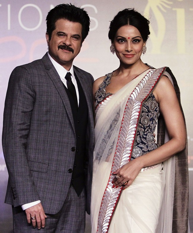 Anil Kapoor, Bipasha Basu in Singapore to announce the venue for an upcoming award function