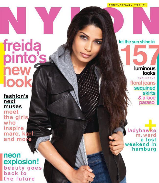 Freida Pinto on Nylon