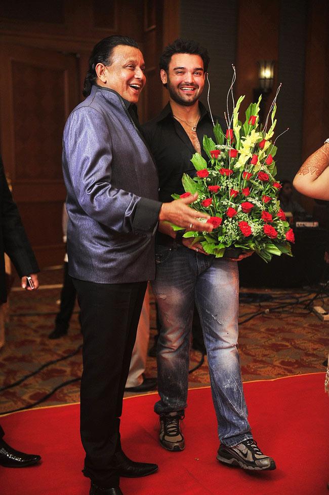 Mithun Chakraborty with son Mahaakshay
