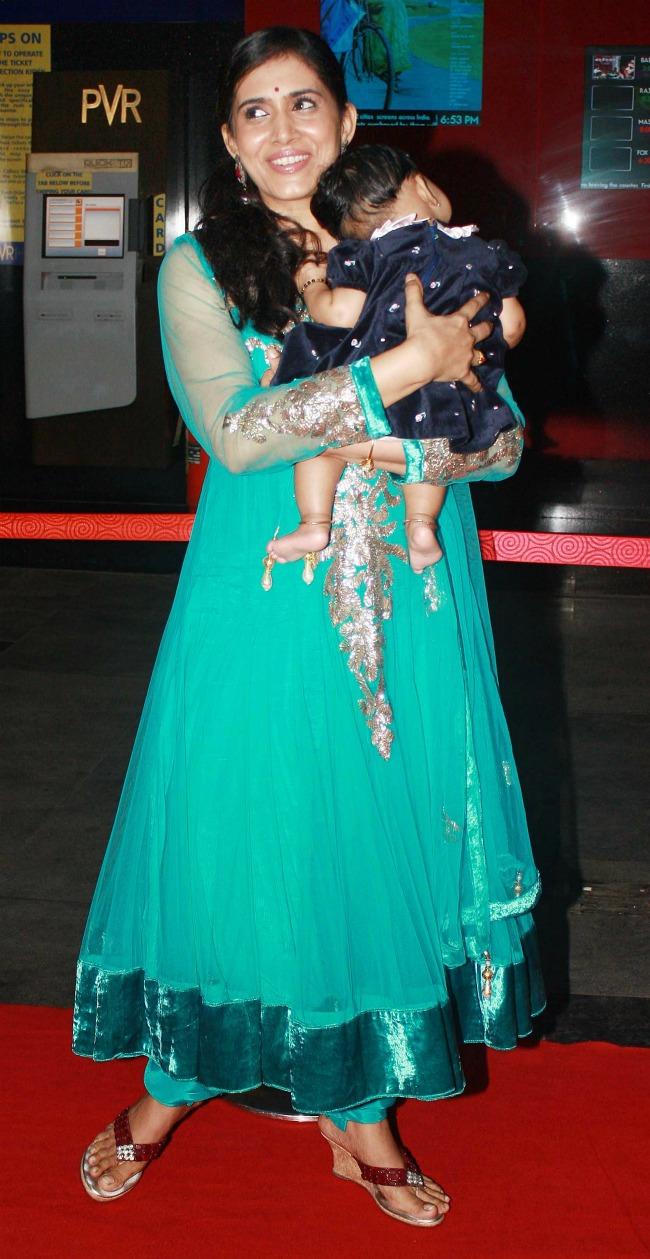 Sonali Kulkarni at the premiere of Marathi film 'Masala' in Mumbai.