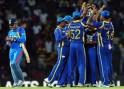 Sri Lankan cricketers celebrate
