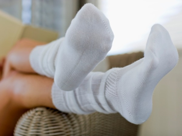 Smelly socks helps you breathe easily