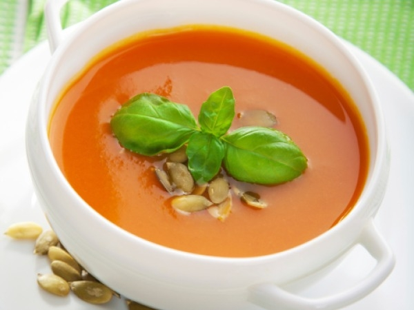 Start lunch with a soup or broth