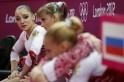 Russian gymnast Aliya Mustafina
