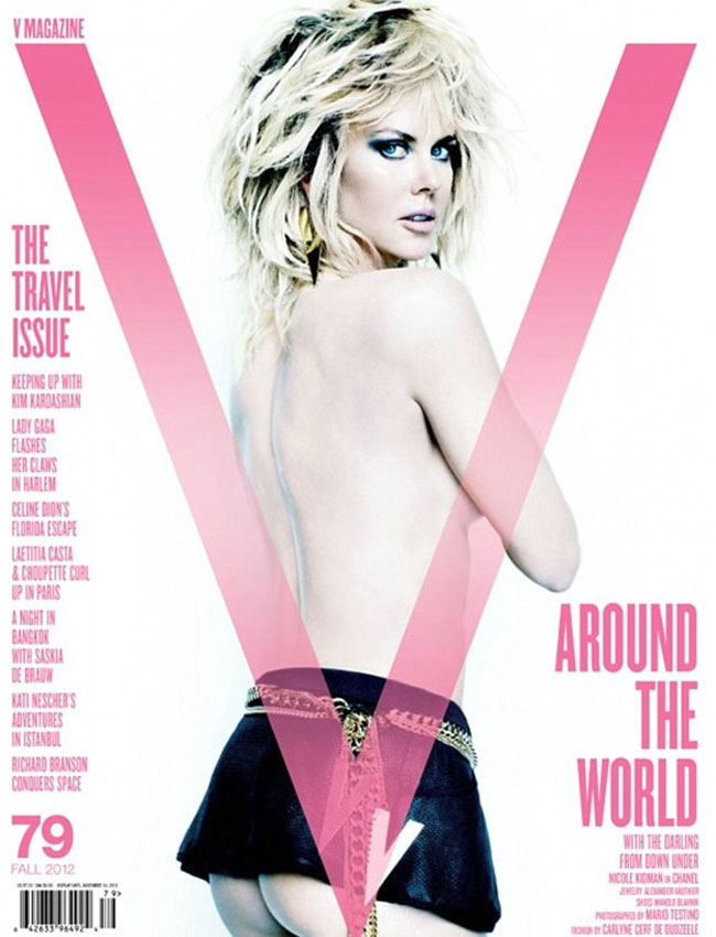 45 year old Kidman shows off her saucy side in the V magazine's September issue.