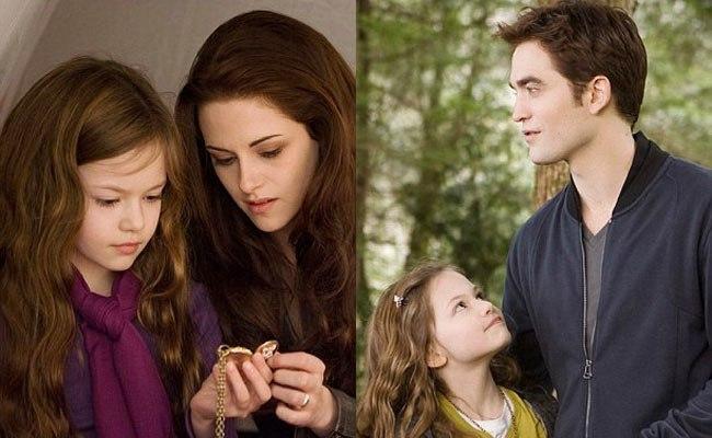 Kristen Stewart and Robert Pattinson on the sets of Twilight: Breaking Dawn 2