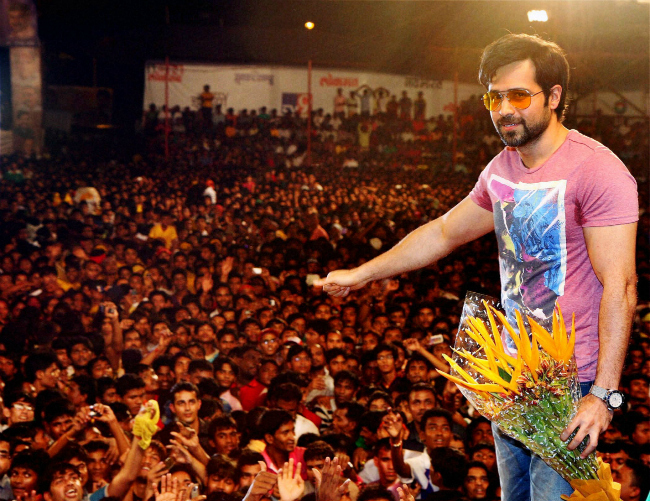 Bollywood actor Emraan Hashmi at a Krishna Janmashtami event in Mumbai.