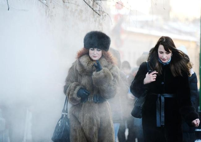 RUSSIA-WEATHER-COLD