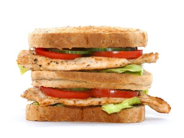 Carrot, Green peas & Brown Bread Sandwich
