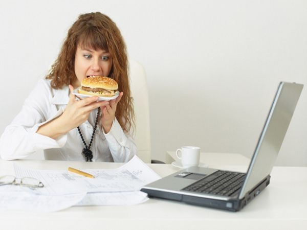 Don't eat at your desk