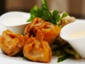 New Year's Party Snack Recipe # 6: Gingered crab phyllo dumplings