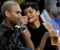 Rihanna-Chris Brown Get Cosy @ NBA