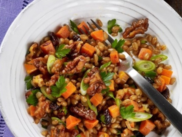 Walnut Recipe - Chipotle and Toasted Walnut Wheat Berry Salad