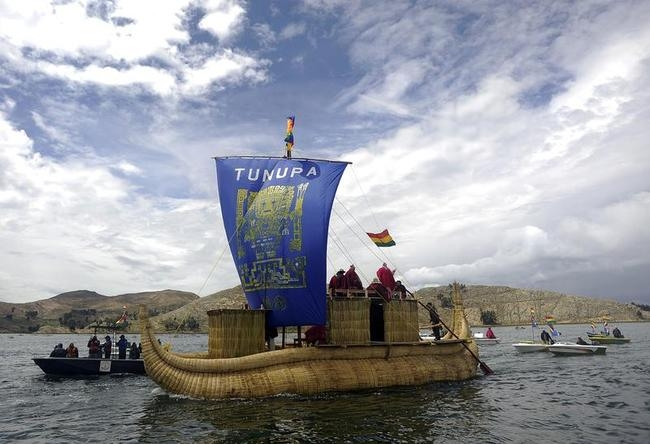 Sailing Gets Religious Touch in Bolivia