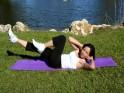 Side lying shoulder & double leg raise