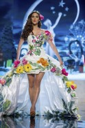 Miss El Salvador Ana Yancy Clavel performs onstage at the 2012 Miss Universe National Costume Show at PH Live in Las Vegas