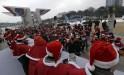 Koreans Run Santa Marathon!
