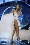 Miss Finland Sara Chafak performs onstage at the 2012 Miss Universe National Costume Show at PH Live in Las Vegas