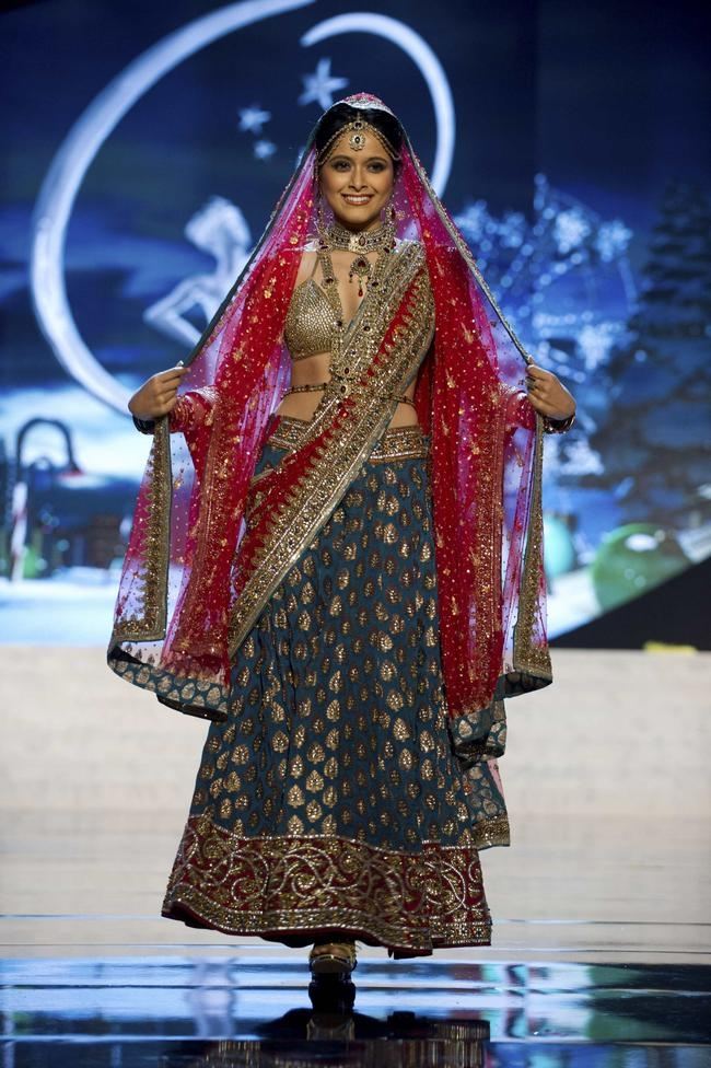 Miss India Singh performs onstage at the 2012 Miss Universe National Costume Show at PH Live in Las Vegas