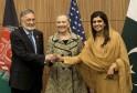 Zalmai Rassoul, Hillary Rodham Clinton, Hina Rabbani Khar