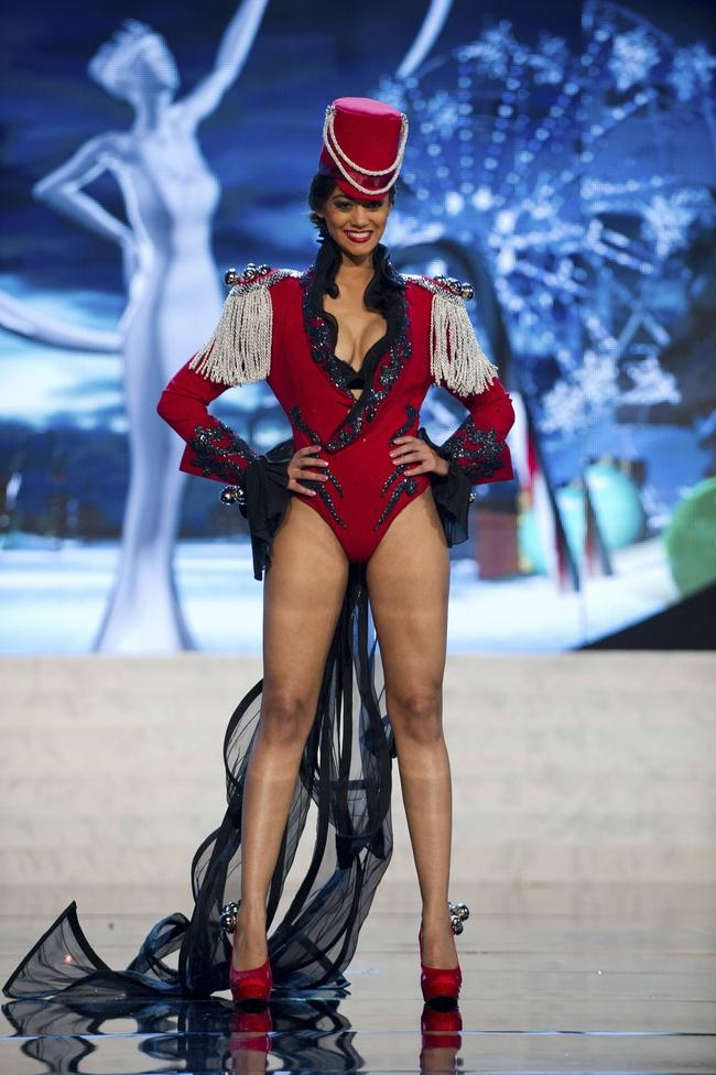 Miss Switzerland Buchschacher performs onstage at the 2012 Miss Universe National Costume Show at PH Live in Las Vegas
