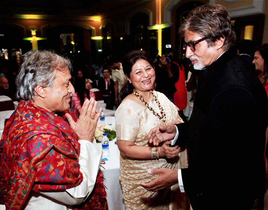 Amitabh Bachchan at the launch of Sarod player Ustad Amjad Ali Khan's book My Father, Our Fraternity, in Mumbai, on 13th December.