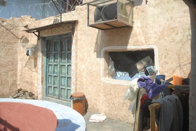 Padosi house in its damaged state