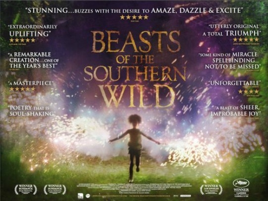 Beasts of the Southern WildDirected by Benh Zeitlin, Beasts of the Southern Wild is an adaptation of Alibar's one-act play Juicy and Delicious. Starring Quvenzhané Wallis, Dwight Henry and Levy Easterly, it's about six-year-old Hushpuppy who must learn the ways of courage and love in troubled times.The movie has some extragavant sequences punctuated by one of the best performance by a child in recent times by Wallis as Hushpuppy. This is a movie that will regale and surprise you in equal measure. Fabulous stuff indeed.