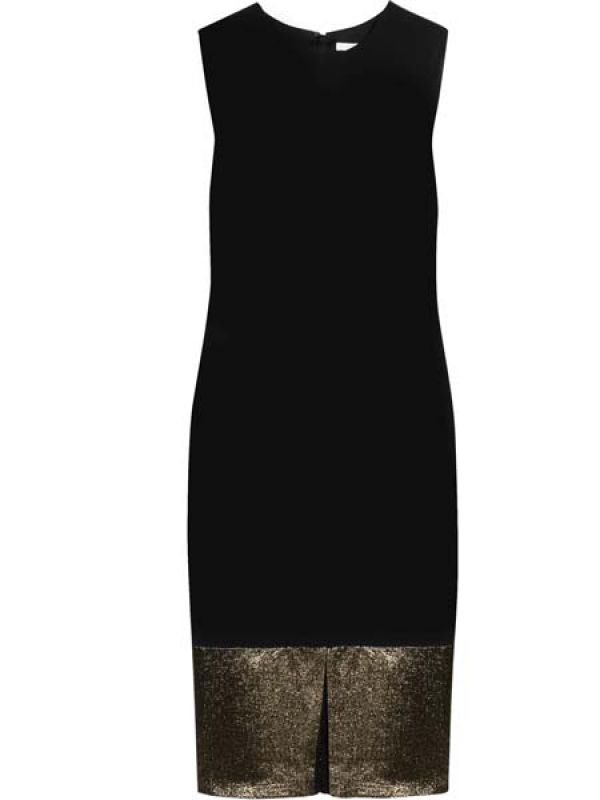 Black and gold jersey dress by Diane Von Furstenberg