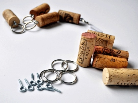 KeychainsOnce eyes have been screwed, all you need to do is grab some keychain rings and viola! You have your own Cork Keychain. You can make them by the dozen and hand them over to your chaps, or even inscribe every keychain meant for a specific key. Talk about sheer brilliance!